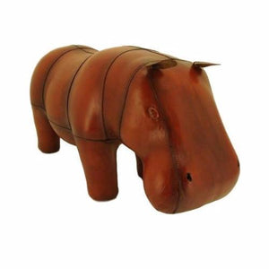 Leather Foot Stool - Hippo