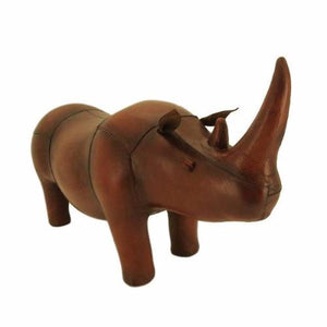 Leather Foot Stool - Rhino