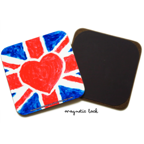 Coaster / Fridge Magnet Stag - UK Loves Range