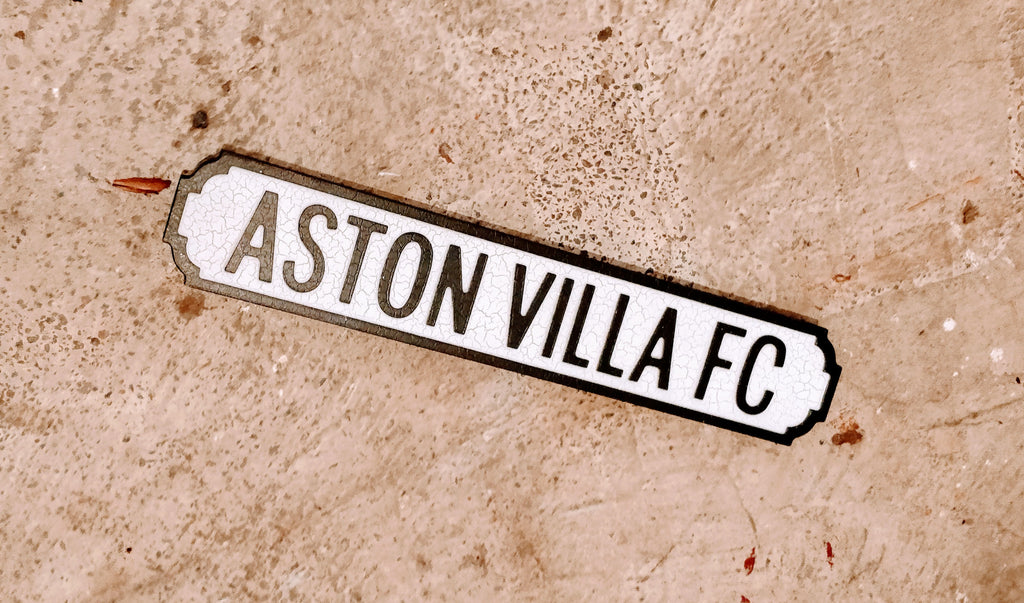 ASTON VILLA FC Mini Road/Street Sign