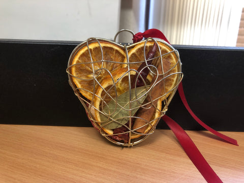 Opened Silver Heart JormaePourri Tree Decoration
