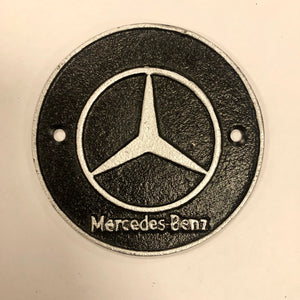 Mercedes cast iron sign