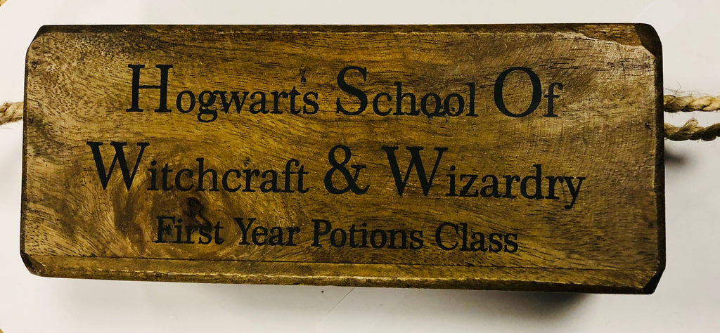 Hogwarts wooden box