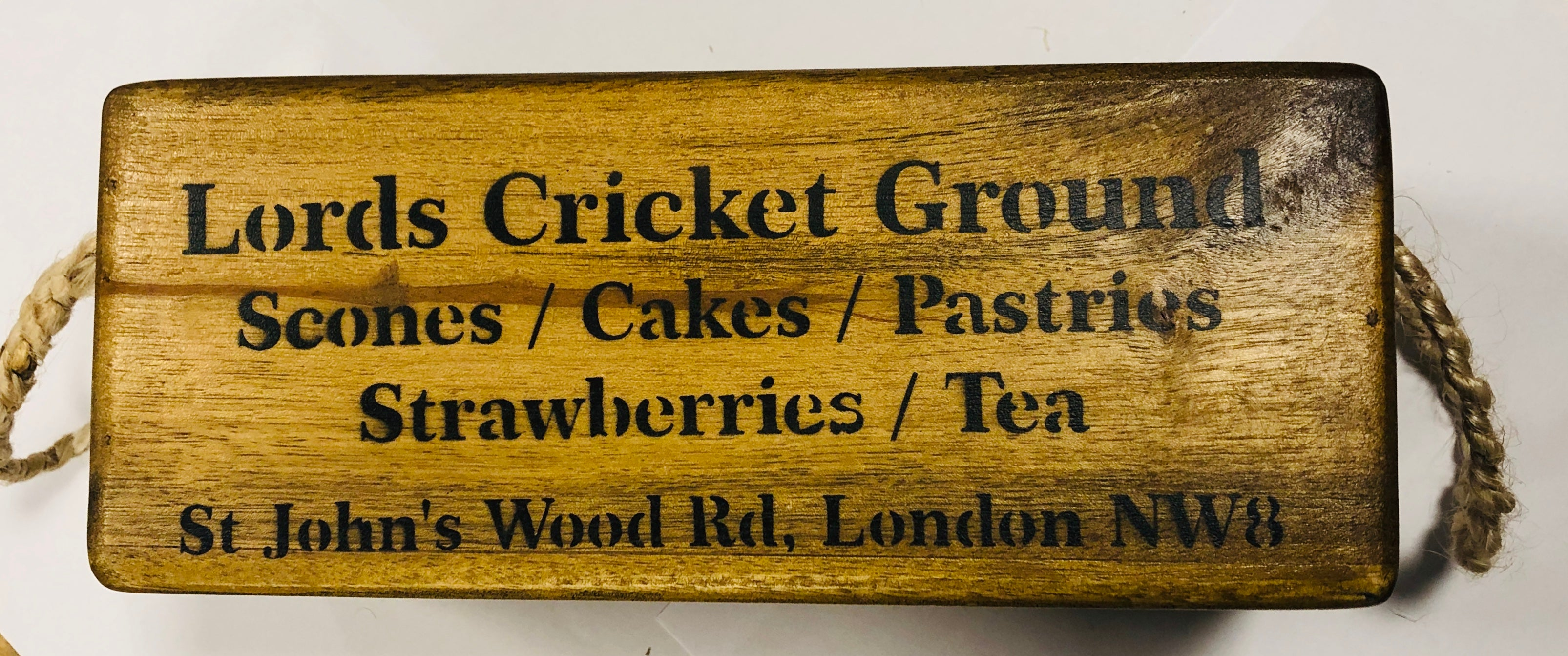 Lords Cricket Group wooden box