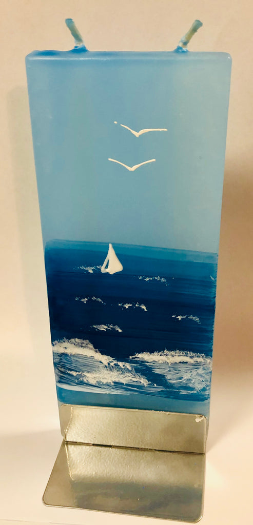 Chritsmas Sailing Boat Flatyz Handmade Decorative Flat Candles