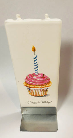 Birthday Cupcake Flatyz Handmade Decorative Flat Candles