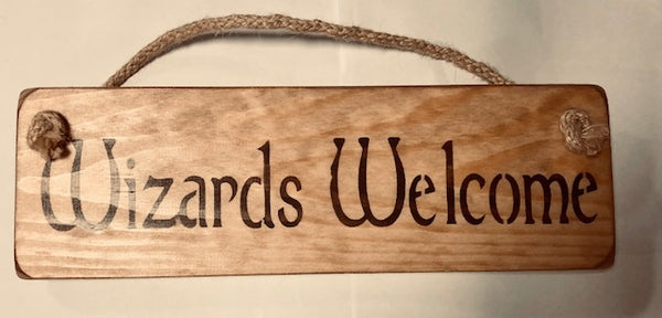 Harry Potter Solid Wood Roped Sign Others Available