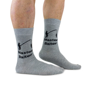 Cockney Spaniel Master Baiter fishing Funny Christmas Socks