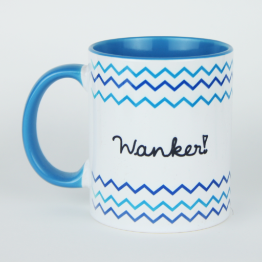 Quality Funny / Rude UK Made Mug - UK Words Range - Wanker
