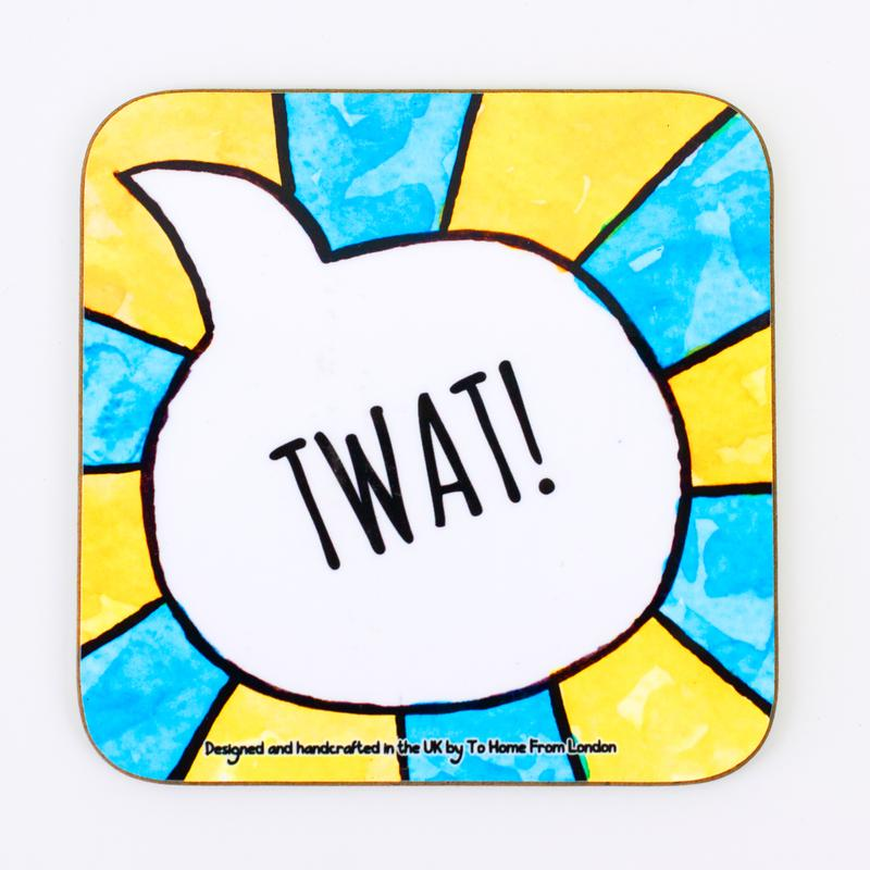 Coaster / Fridge Magnet Twat - UK Words Range