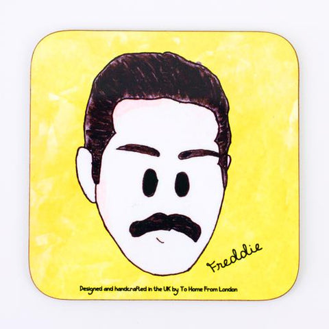 Coaster / Fridge Magnet Queen Freddie Mercury  - UK Ikons Range