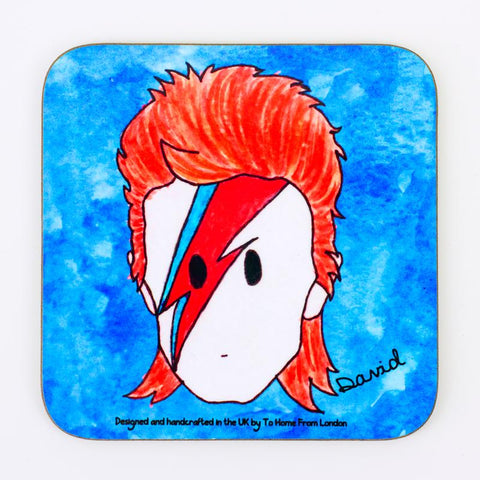 david bowie coaster magnet
