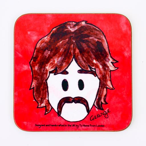 Magnetic Coaster / Fridge Magnet The Beatles George Harrison - UK Ikons Range