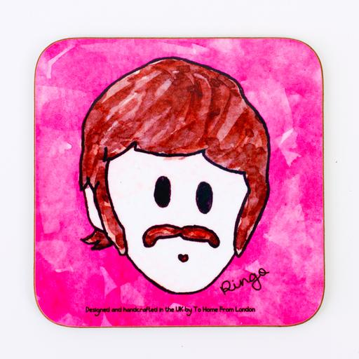 ringo beatles coaster magnet