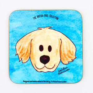 Golden Retriever Coaster Magnet