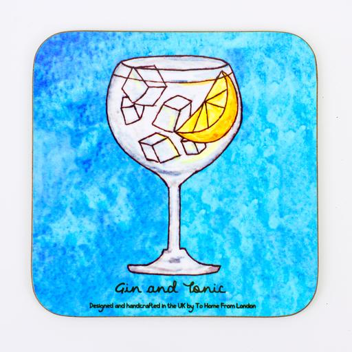 Gin and Tonic Coaster Magnet