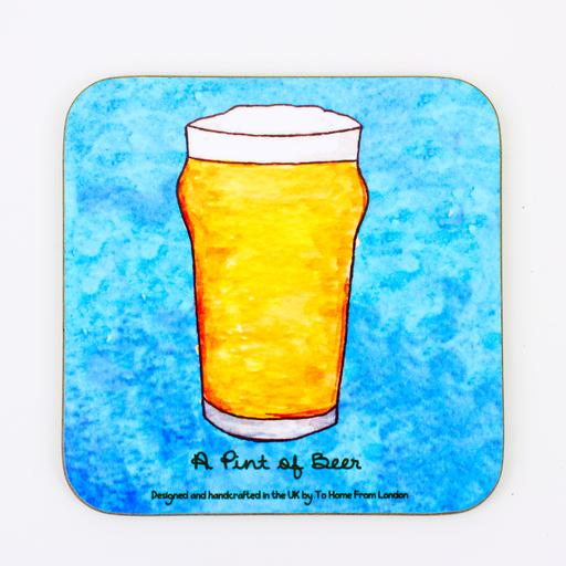 Coaster / Fridge Magnet Pint of Beer - UK Loves