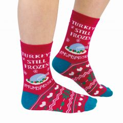 Cockney Spaniel Turkey's Still Frozen Funny Christmas Socks