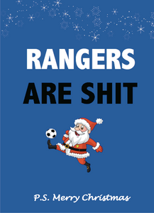 Rangers are shit Christmas Card