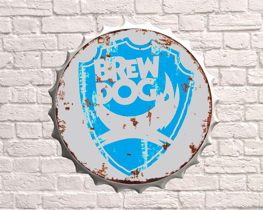 brewdog ipa giant metal hanging bottle top