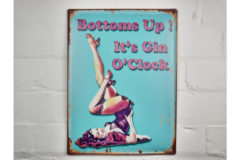 Bottoms Up Sign