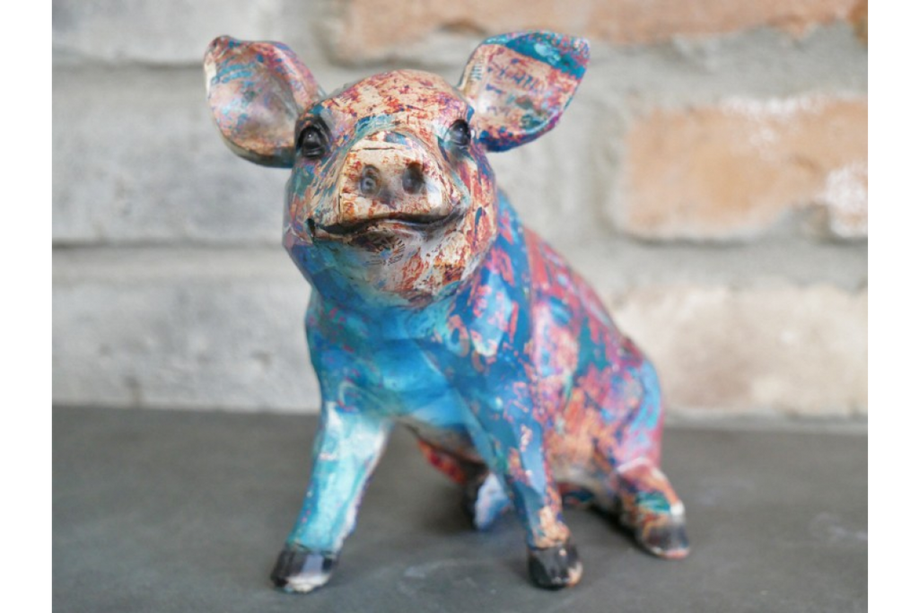 Colourful Pig Ornament