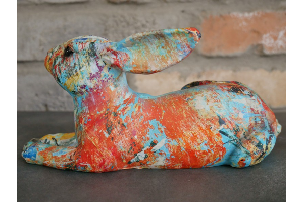 Colourful Paint splash rabbit Ornament