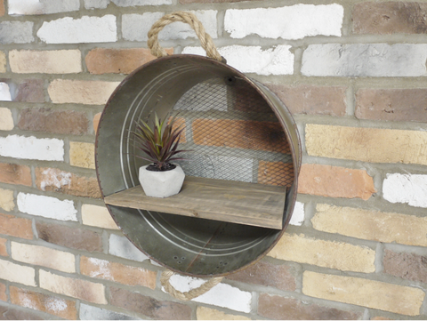 Industrial Bucket Shelf