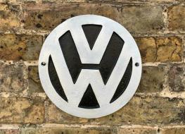 Volkswagen cast iron sign