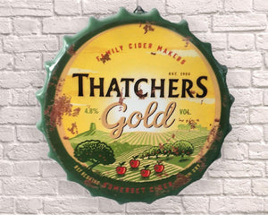 thatchers cider giant metal hanging bottle top