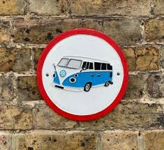 Volkswagen Camper cast iron sign