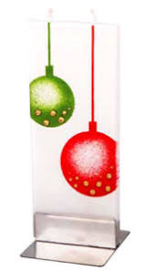 Chritsmas Baubles Flatyz Handmade Decorative Flat Candles