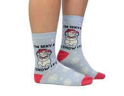 Cockney Spaniel I'm Sexy & I Snow It! Funny Christmas Socks