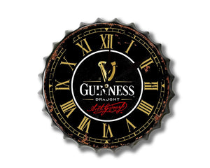 Guinness Bottle top Clock cap30cm