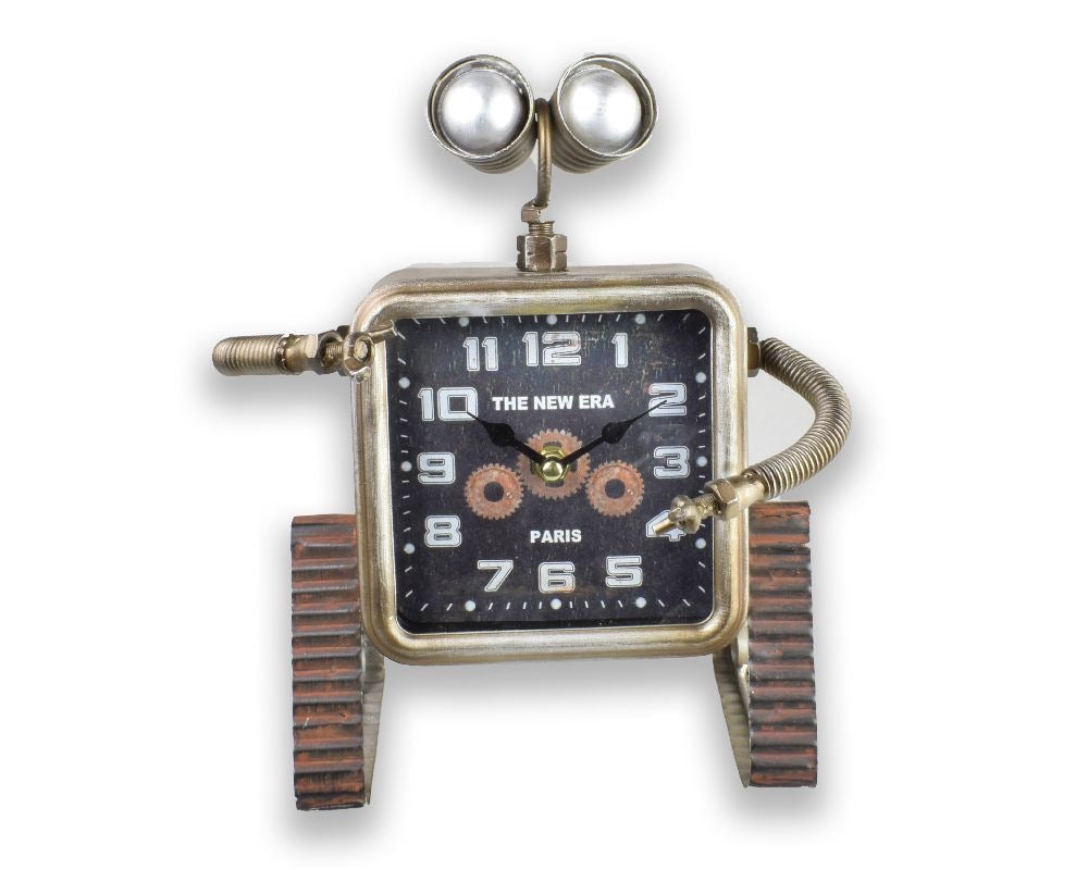 Robot on tracks Desk Clock