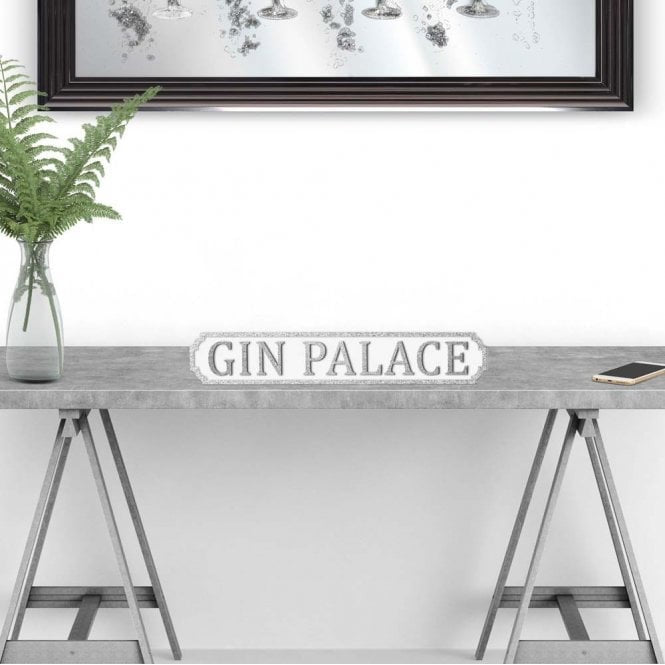 gin palace glitter street sign