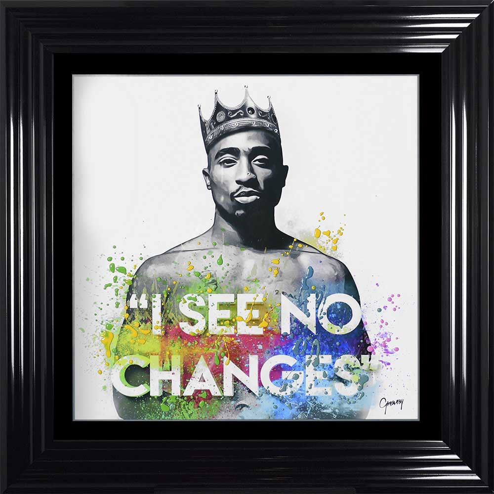 2 Pac Tupac Liquid Crystal Artwork Picture Black frame