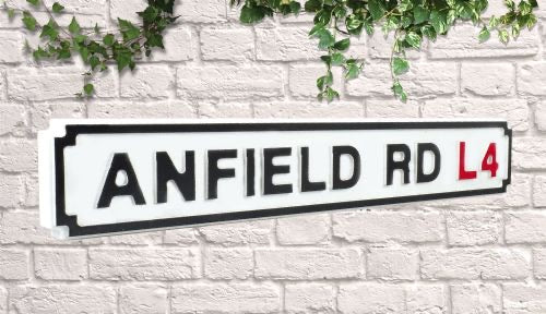 anfield street sign mancave football