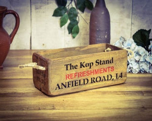 Liverpool the kop stand Anfield wooden storage box