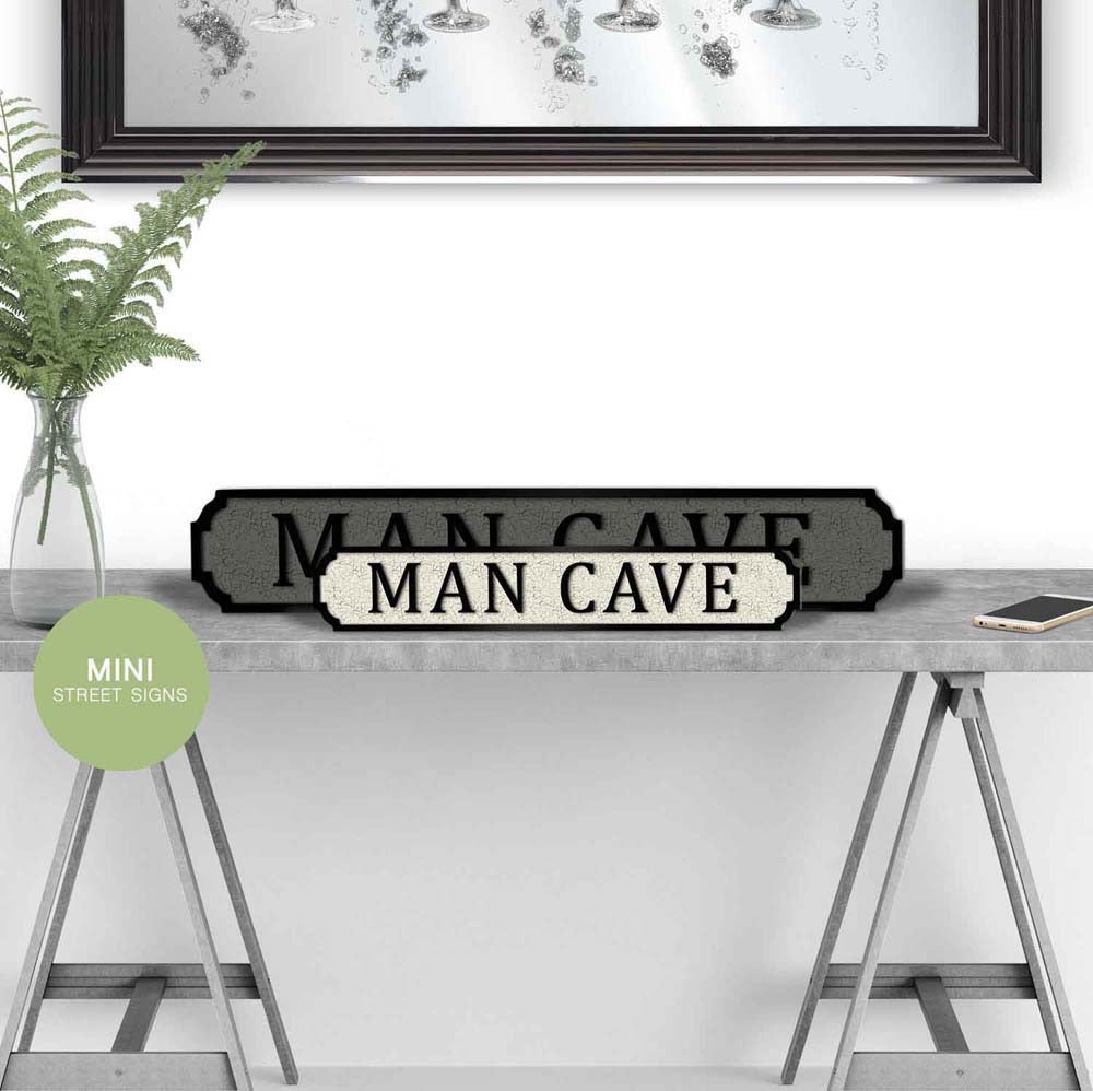 Man Cave Wooden  street road sign