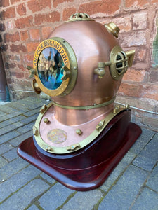 Reproduction Divers Helmet on Stand