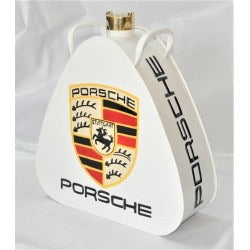 Retro Hand Painted Porsche Advertising Aluminium Oil Petrol Jerry can