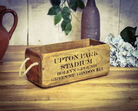 Upton Park West Ham United wooden storage box