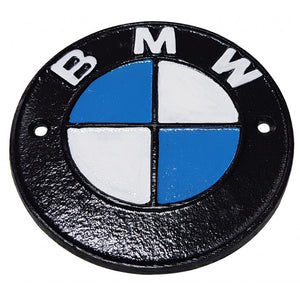BMW cast iron sign