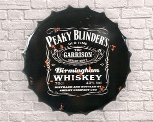 Giant Peaky Blinders large Bottle top cap 30cm