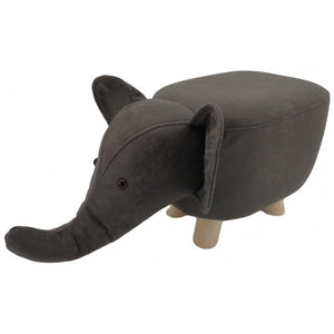 suede animal footstool - dark grey elephant