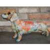 paint splash sausage dog daschund