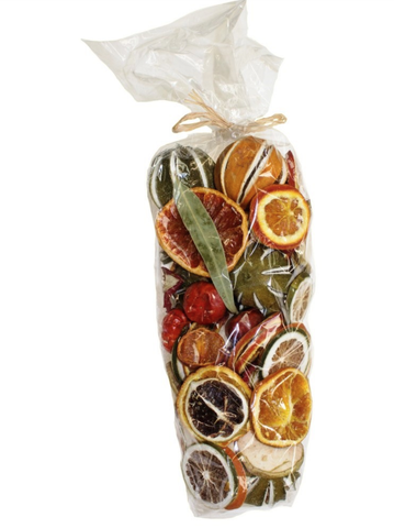 Christmas potpourri dried fruit bag