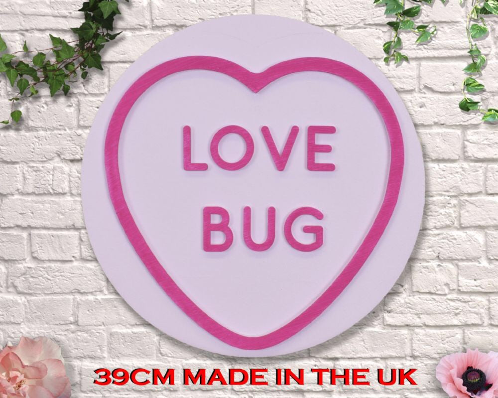 Giant pink Love heart Love bug