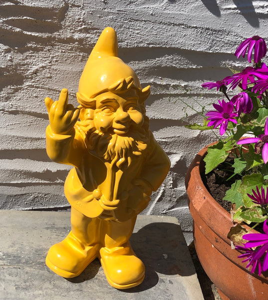Stoobz naughty gnome swearing (yellow) large